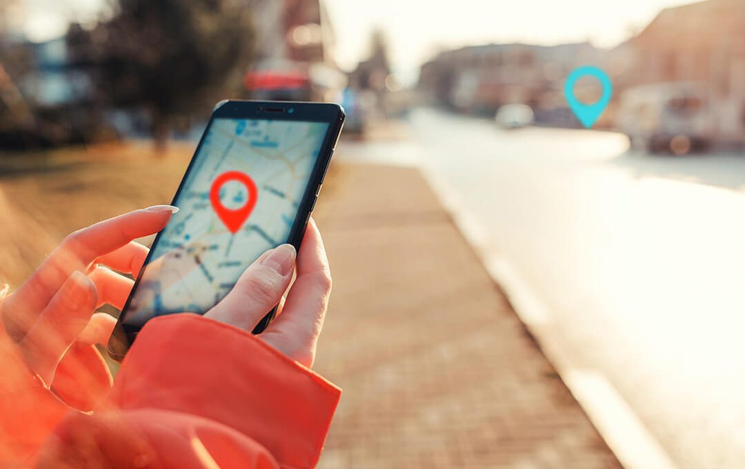 AOC Location Map GPS on Phone
