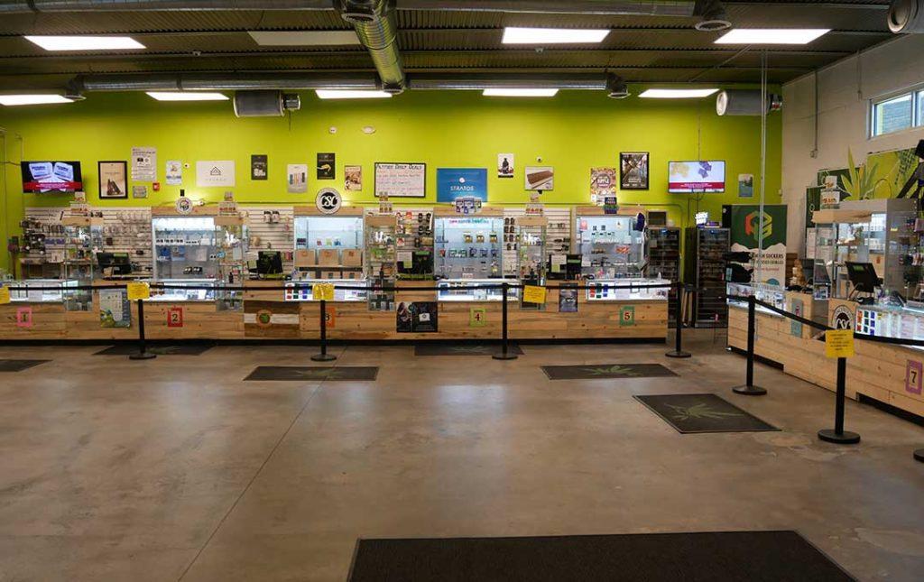 AOC shop full interior view Premium Medical Marijuana in Dillon, CO - Altitude Organic Cannabis